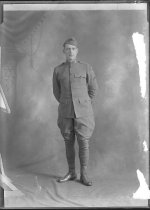 Image of Young man in WWI uniform - Print, Photographic