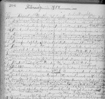 Image of Journal of Elizabeth Stoughton, Orillia, Washington.