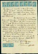 Image of Contract between James Hart and Adam Spotts, 1899