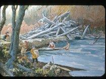 "Image of ""CHEHALIS RIVER CANOE TRIP CENTURY AGO"" - Transparency, Slide"