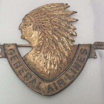 Image of General Air Lines Uniform Hat Badge - 1934