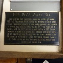 Image of Deltamatic IBM 1977 Agent Set - Exhibit Label