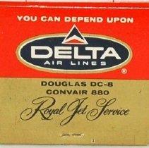 Image of Delta Royal Jet Service Matchbook, 1960 (Side 2)