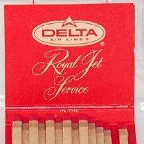 Image of Delta Royal Jet Service Matchbook, 1960 (interior)