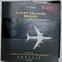 Image of Convair 880 Flight Training Manual, 1960