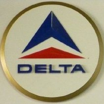 Image of Delta Widget Logo Sign - 1970s-1993