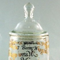 Image of Delta Inaugural Service Boeing 747 Glass Jar - 1970