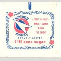 Image of Northwest Orient Sugar Packet - ca. 1948-early 1950s