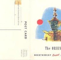 Image of Northwest Orient Menu/Postcard - 1955