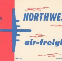 Image of Northwest Air Freight Shipping Label - 1950s