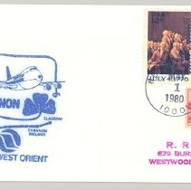 Image of Northwest Orient to Shannon First Flight Cover - 05/01/1980