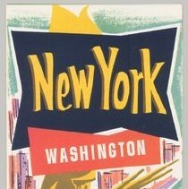 Image of New York, Washington Millionaire Dream Vacations via Delta - 1957