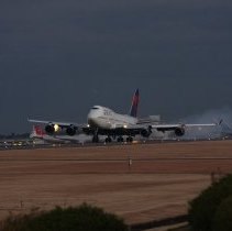 Image of First 747 in Delta Livery at NRT - 12/15/2008