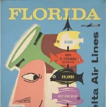 Image of Delta Florida Travel Poster - 02/1957