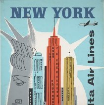 Image of Delta travel poster for New York, 1957