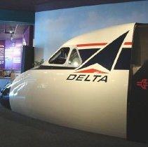 Image of Convair 880 cockpit, Atlanta Visitors & Convention Bureau, side