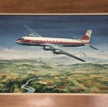 Image of Western Airlines Douglas DC-6B Painting