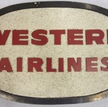 Image of Western Airlines Logo Sign - 1960s