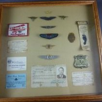 Image of Al DeGarmo's Pilot Insignia, License and Commemoratives Set - 1919-1986