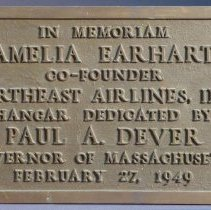 Image of Northeast Airlines Amelia Earhart Plaque - 02/27/1949