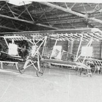 Image of Delta Crop Duster Ship 70 frame being built in Monroe, LA, ca. 1936-1937
