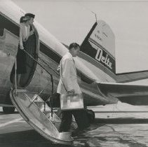 Image of DC-3 Ship 41 with Air Stair after 1950 Modification