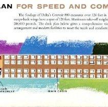 Image of Seat Diagram from Delta Convair 880 Brochure, 1960