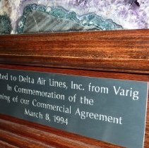Image of Geode plaque, March 8, 1994