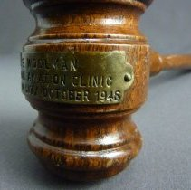 Image of C.E. Woolman's National Aviation Clinic Gavel - 10/1946