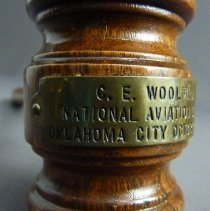 Image of C.E. Woolman's Aviation Clinic Gavel, 10/1946, plate
