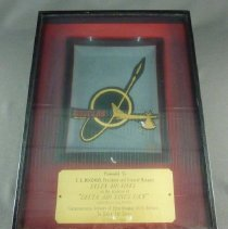 Image of C.E. Woolman's DC-9 Delivery Framed Ashtray - 10/07/1965