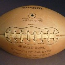 Image of C.E. Woolman's Football from Orange Bowl Committee, top