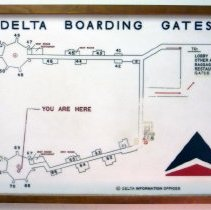 Image of Delta Boarding Gates Sign - 1968