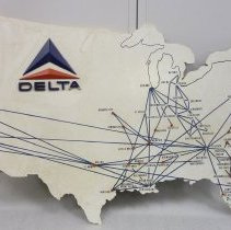 Delta Route Map Sign - 1961 on