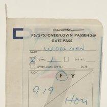Image of C.E. Woolman's Last Boarding Pass, 9/4/1966