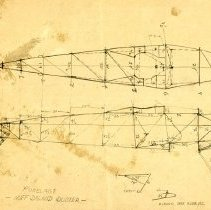 Image of Huff Daland Duster Fuselage Draft Drawing 1B, ca. May 1936, front
