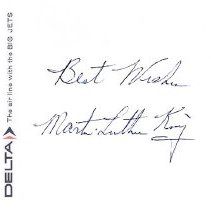 Image of Dr. Martin Luther King, Jr.'s Autograph - 1965