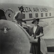 Image of Evelyn Duncan Latham, a Delta Porter and DC-2 - ca. 02/1940-02/1941