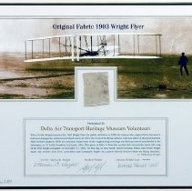 Image of Original Fabric 1903 Wright Flyer - 1903-2003