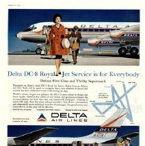 Image of Delta DC-8 Royal Jet Service is for Everybody - 10/1959
