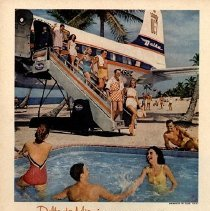 Image of Delta to Miami...Trunk Line to Sunshine ad, 1958