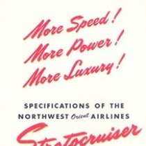 Image of Fly the Best! Fly Northwest! Brochure, back cover