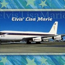 Image of Elvis' Lisa Marie Postcard - 1977