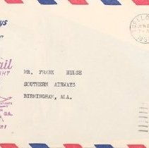 Image of Southern Airways AM-98 Tupelo First Flight Cover - 06/20/1951