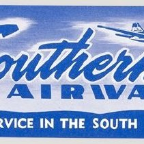 Image of Southern Airways Baggage Label - ca. 1949-1959