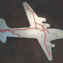 Image of Delta DC-4 Route Map Sign - 1946