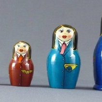 Image of Flight Attendant Nesting Dolls - ca. 1992
