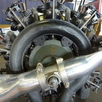 Image of NWA Waco 125 Engine with Siemans logo, 2011