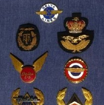 Image of Capt. Vic Hewes' Cap Badges, worn 1940-1987