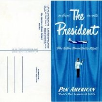 Image of Pan American The President Menu/Postcard - 6/12/1952